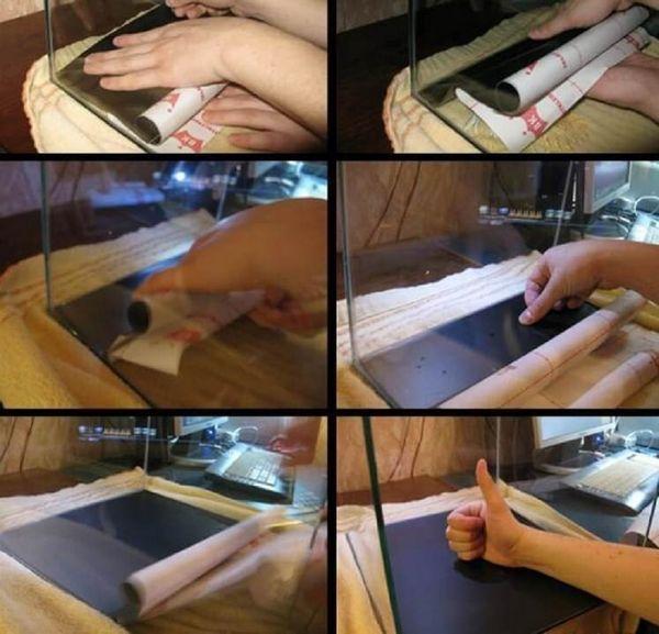 Покрокова інструкція, як правильно приклеїти плівку
