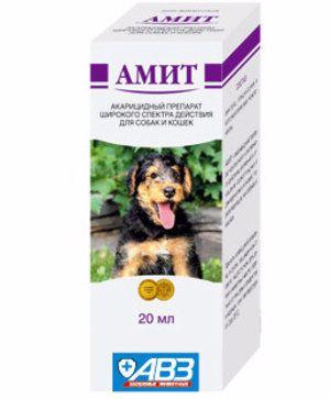 Amit: popis, zloženie a použitie pre psy a mačky