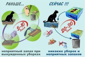 Котячий туалет до і після