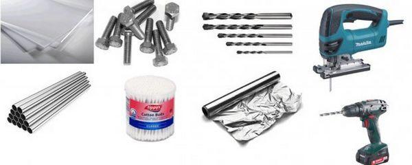 Матеріали і інструменти для автокормушнкі в акваріум