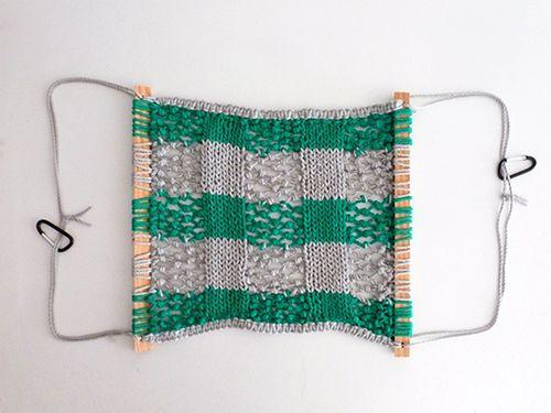 Плетений гамак на каркасі