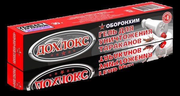 Gél proti švábom `dohlox`: popis, použitie