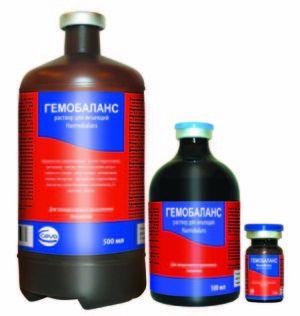 Застосування препарату гемобаланс