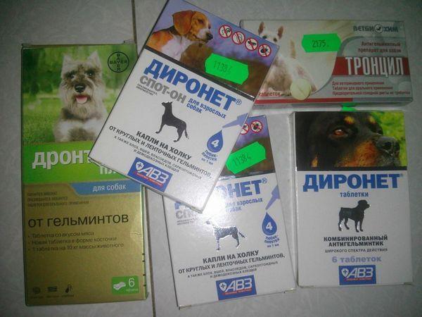 Препарат випускається в суспензії і таблетках для кішок і собак