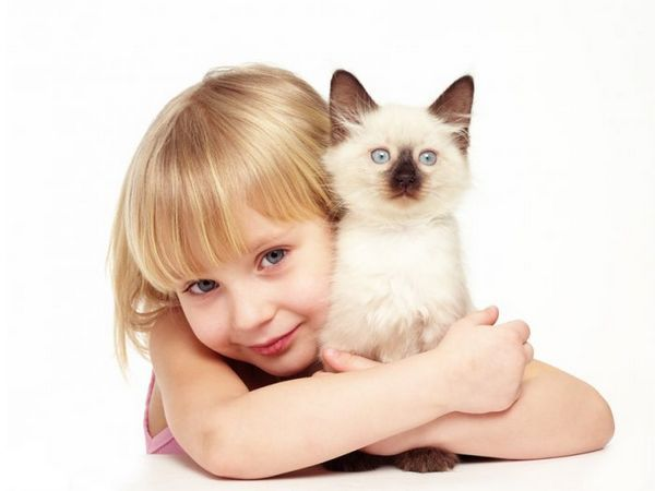 дитина і кішка