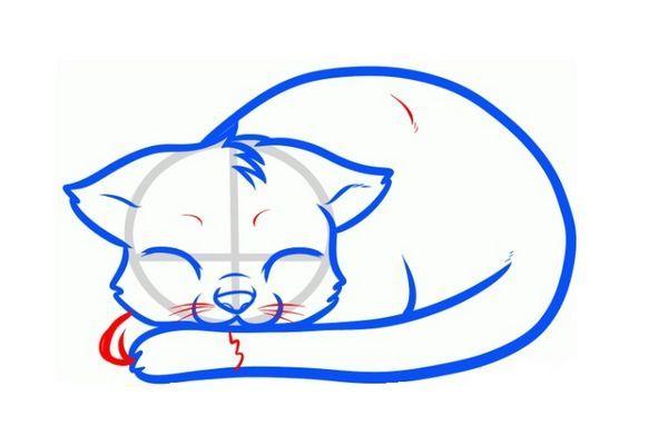 Малюнок сплячої кішки