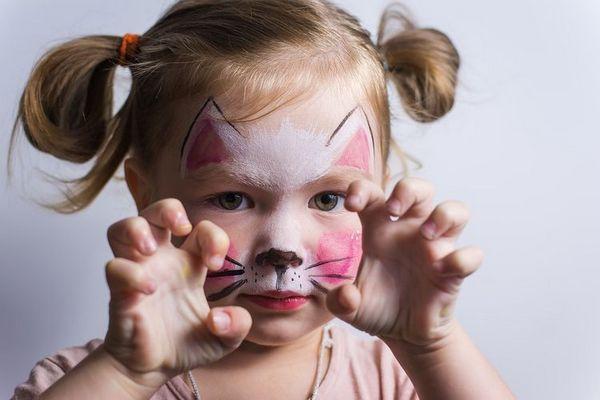 Аквагрим кішка для дитини