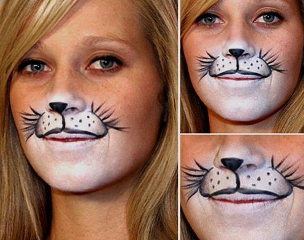 Кішка на обличчі