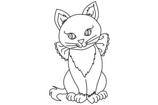 Як намалювати сидячу кішку поетапно