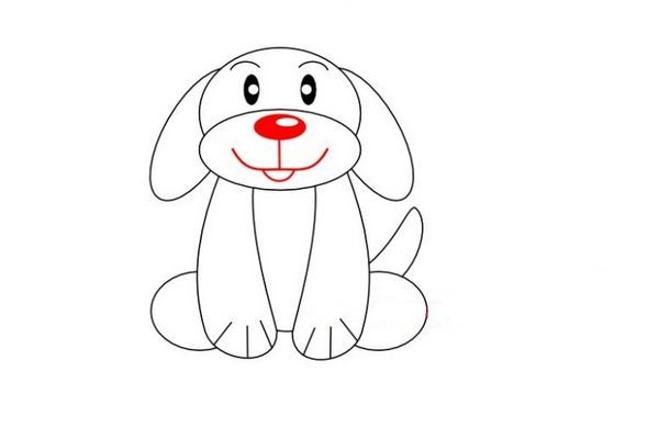 Готовий малюнок собаки