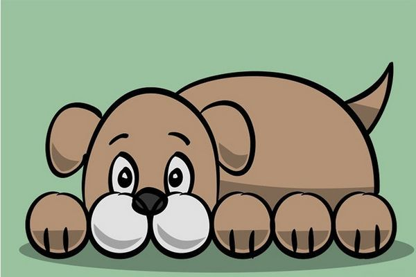 Простий малюнок собаки