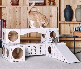 Будиночок для двох кішок