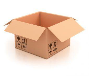 Картонна коробка для будиночка
