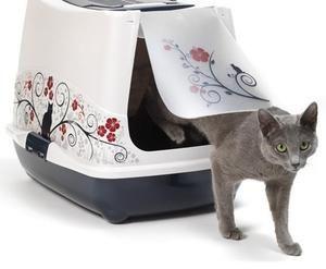 Декоративний закритий лоток для кішок