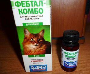 Febtal Combo je pohodlné antihelmintické pozastavenie.