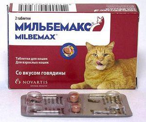 Milbemax sú pohodlné tablety so správnym dávkovaním účinnej látky pre mačky.