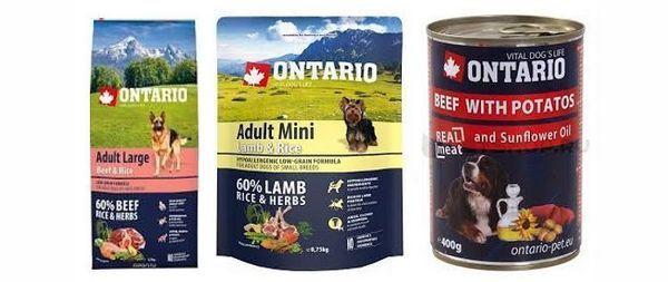 Лінійка кормів для собак Онтаріо