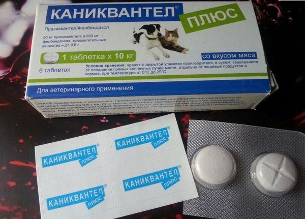 Caniquantel je dostupný v tabletách