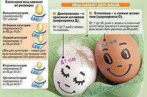 Що означають категорії курячого яйця