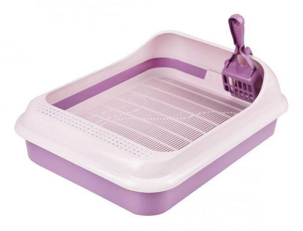 Фіолетовий лоток для кішки